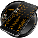 Dialer Circle BlackOrange Skin by Luklek