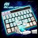 ai robot green keyboard yellow future machine by Keyboard Creative Park