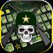 Army Keyboard Theme Camouflage Skull by Creative Beauty Studio