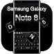 Keyboard for Galaxy note8 by Keyboard Theme Factory