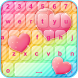Rainbow Love Stylish Keyboard by Girls Fashion Apps