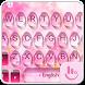 Pink Water Sakura Keyboard Theme by Fashion Cute Emoji