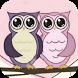 Cute Owl Pink Cartoon Theme by BEST APP Developer