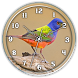 Clock Live WP :Painted Bunting by Ripple Clocks