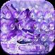 Purple Waterdrop Keyboard Theme by Creative Beauty Studio