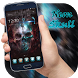 Neon Shiny Dark Blue Skull by Me&Art Android Theme Designer