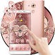 Rose Gold Love Hearts Butterfly Theme by Beauty Stylish Theme