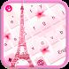 Theme Pink Eiffel Keyboard by Theme Lovely