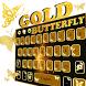 Golden Butterfly Input Theme by 3D, Launcher, Input, Live Wallpaper, Themes World