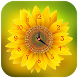 Sunflower Clock Live Wallpaper by App Basic