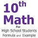 10th Math Formula by Codebug
