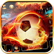 Flame Football keyboard Theme by Fly Liability Themes