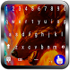 Flaming Wolf Keyboard Theme by Todaysapps