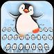 Cute cartoon penguin baby keyboard
