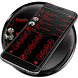 Dialer Circle Black Red Theme by Luklek
