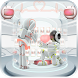 robot love heart keyboard pink white future by Keyboard Creative Park