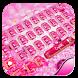 pink gem keyboard luxury by Super Keyboard Theme