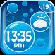 Bubbles Weather Clock Widget