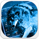 Ice Wolf Keyboard by Keyboard Design Paradise