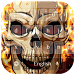 Hell fire Skull freeKeyboard by live wallpaper collection
