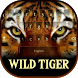 Wild Tiger Eyes Typewriter by Me&Art Android Theme Designer