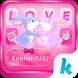 Bunny Love Emoji Keyboard Theme by Kika Classic Themes Keyboard for Android