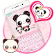 Pink Cute Panda Keyboard Theme by New Theme World