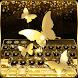 Gold Butterfly Keyboard Theme by Keyboard Dreamer
