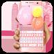 Pink girl love keyboard by Bestheme Keyboard Designer 3D &HD
