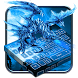 Blue Fire Dragon Keyboard Theme by Super Cool Keyboard Theme