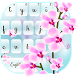 Pink Orchid flowers Typewriter by Me&Art Android Theme Designer