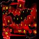 red bat keyboard horror dark night castle by Keyboard Theme Factory