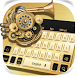 Golden Metal Keyboard by Echo Keyboard Theme