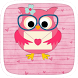 Pink Owl Theme by Heartful Theme