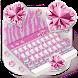 Bling Pink Zebra Keyboard Theme by Theme Wizard