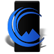 Up Black Blue Icon Pack by Coastal Images