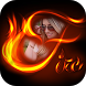 Fire Text Photo Frame by Framozone