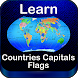 World Countries Capitals Flags Map Puzzles Quiz by DigiGalaxy.net