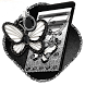 Black Silver Butterfly by Hot Launcher