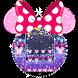 Purple Witty Minny Glitter Diamond Theme by Theme Designer Studio