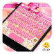 Pink Kitty Bow Knot Keyboard by Eva Colorful Design Team