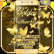 Glimmer Gold Butterflies by Ajit Tikone