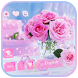 Pink rose Keyboard theme by Fly Liability Themes