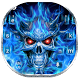 Flaming Skull Keyboard Theme by Super Cool Keyboard Theme