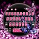 Neon Glitter Butterfly Diamond Keyboard by New Theme World