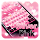 Silver Pink Keyboard by Cool Theme Studio