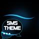Blue Simple Theme GO SMS by Workshop Theme