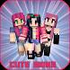 Cute Girls Skins For Minecraft by hafdev.inc