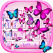 Vivid Butterfly Keyboard Theme by cool wallpaper