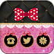 Pink Love Bowknot Theme by Theme Lovely